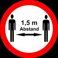 Aufkleber Abstand 15cm